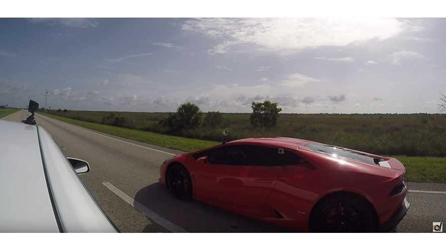 Tesla Model S P85D Ludicrous vs Lamborghini Huracan LP610-4 – DragTimes Race Video