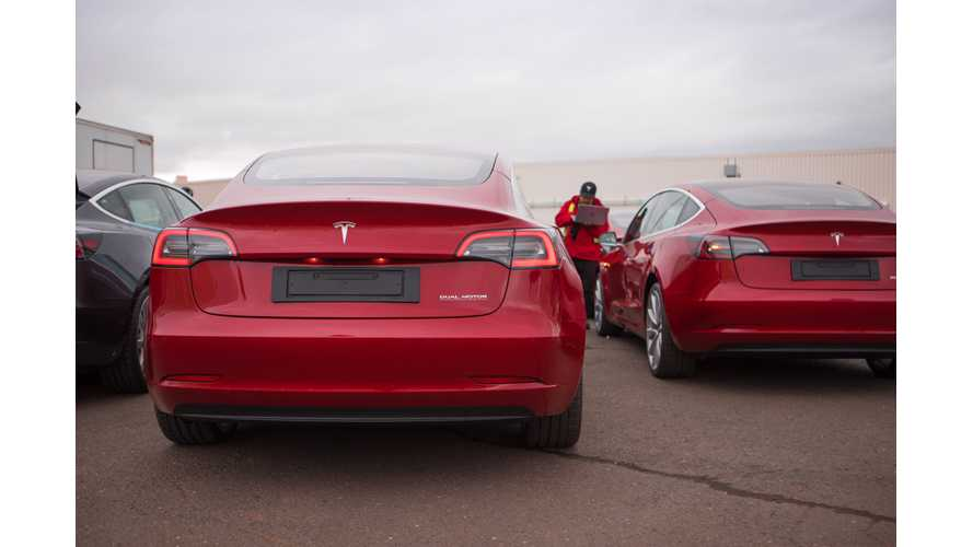European Tesla Model 3: Off The Production Line Image