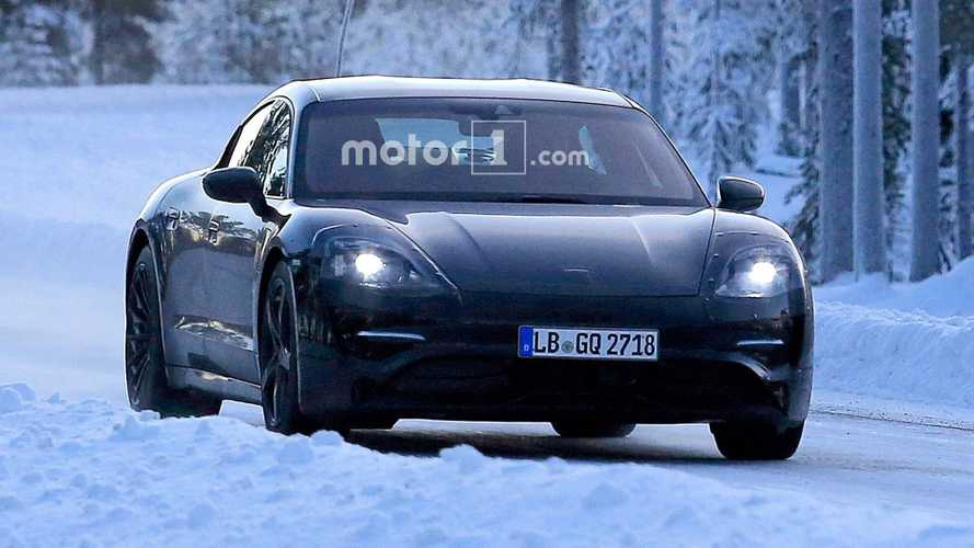 Porsche Mission E Spied In The Snow