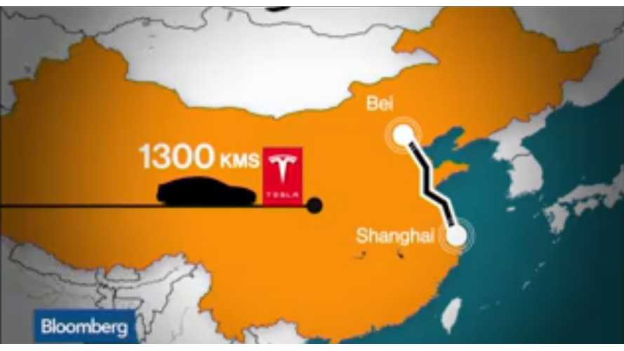 1,300 Kilometer/800 Mile Trip In A Tesla Model S In China - Video