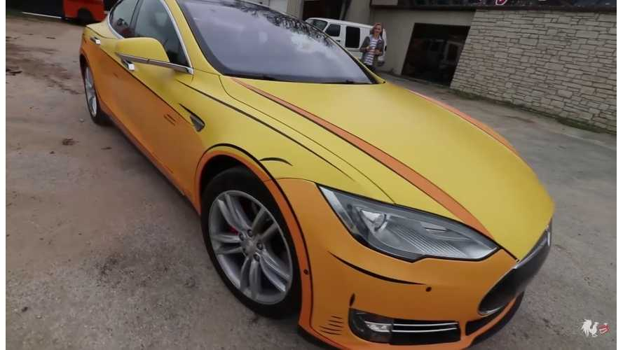 Burnie Burns Transforms His Tesla Model S Into A Real Life Video Game Car - Video