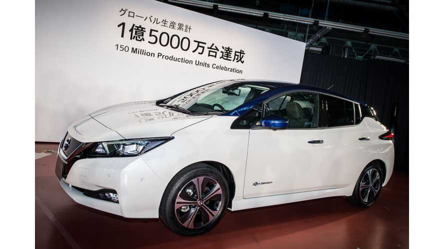 Nissan celebrates 150 million vehicles produced globally, introducing the 2018 Nissan LEAF