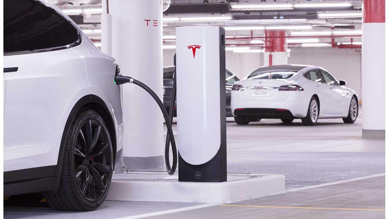 Tesla's new Urban Supercharger