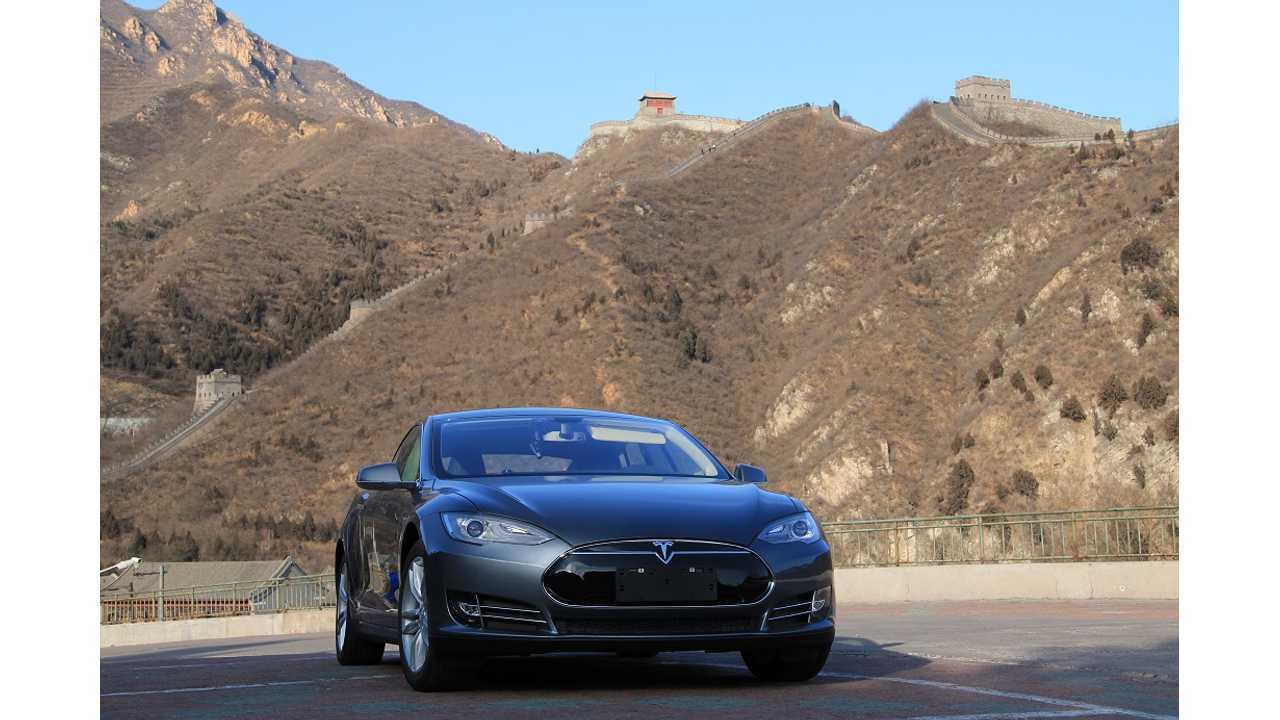 Tesla Model S Sales China - 500 In September, Over 2,800 YTD