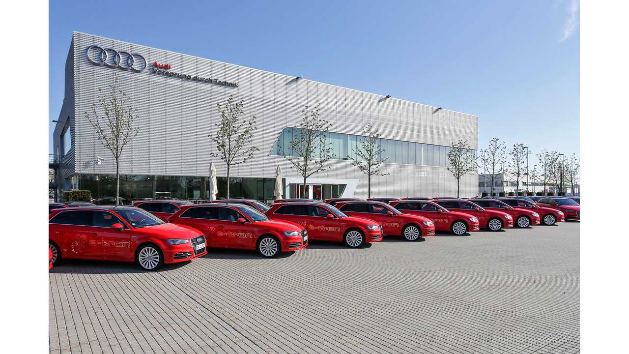 Audi To Provide 40 A3 e-trons For