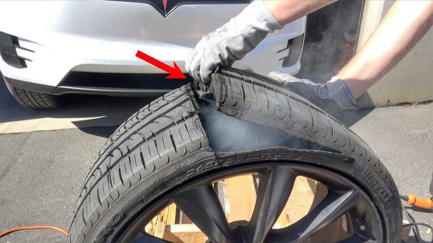 Watch To Find Out What's Inside A Tesla Tire