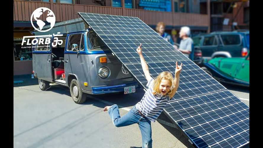 Old VW Bus Converted Into Solar-Powered EV Camper