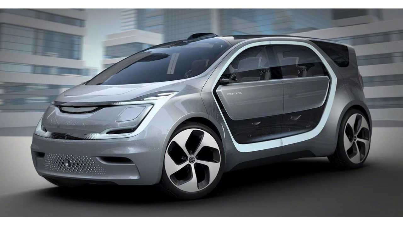 Chrysler Unveils Portal Electric Minivan - 100 kWh Battery & 250 Miles Of Range (w/video)