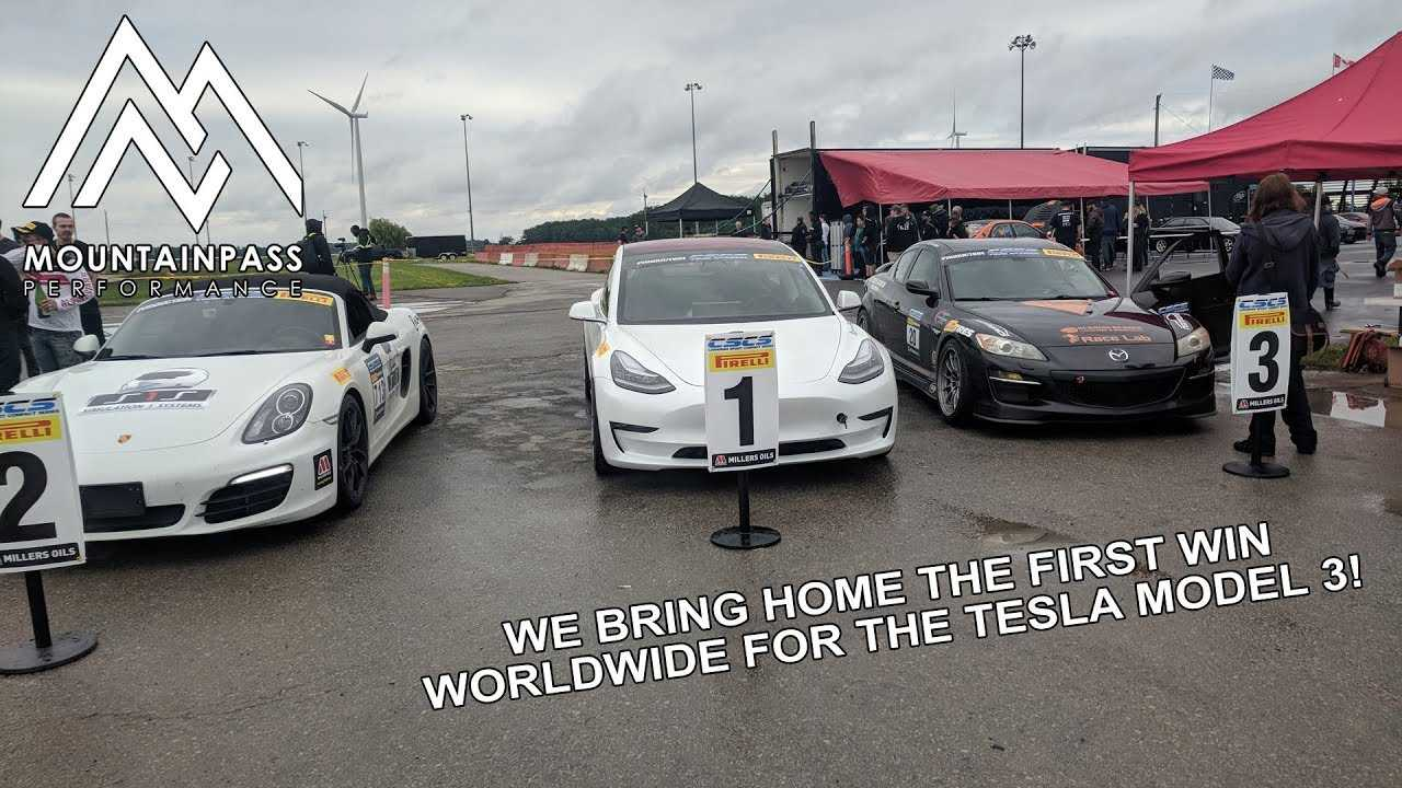 Tesla Model 3 Beat Porsche In Time Attack Race