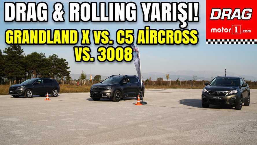 Drag: Peugeot 3008 vs Citroën C5 Aircross vs Opel Grandland X