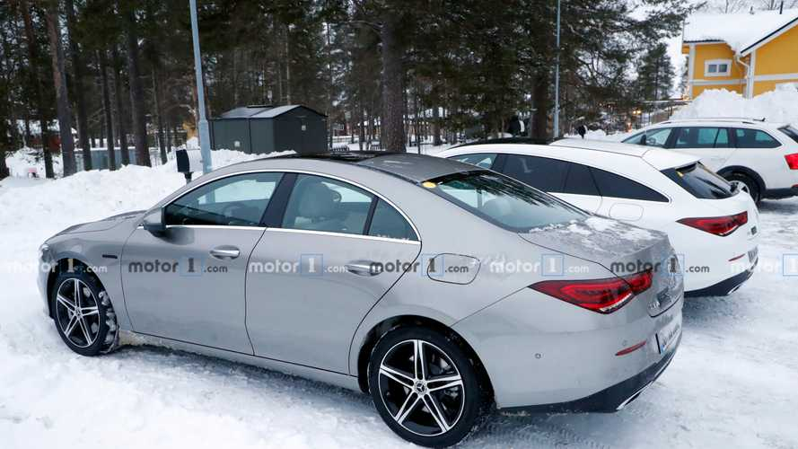 Mercedes CLA plug-in hybrids spied cold-weather testing in Sweden
