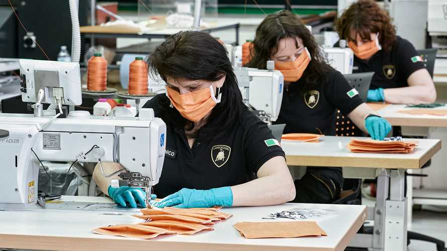 Fabrication de masques par Lamborghini