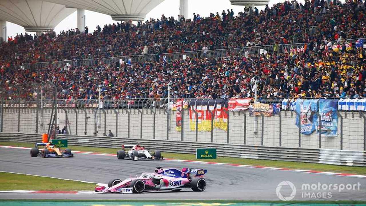 Sergio Perez at Chinese GP 2019