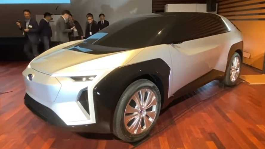 Boldly Designed Subaru Electric Crossover Gets Video Walkaround