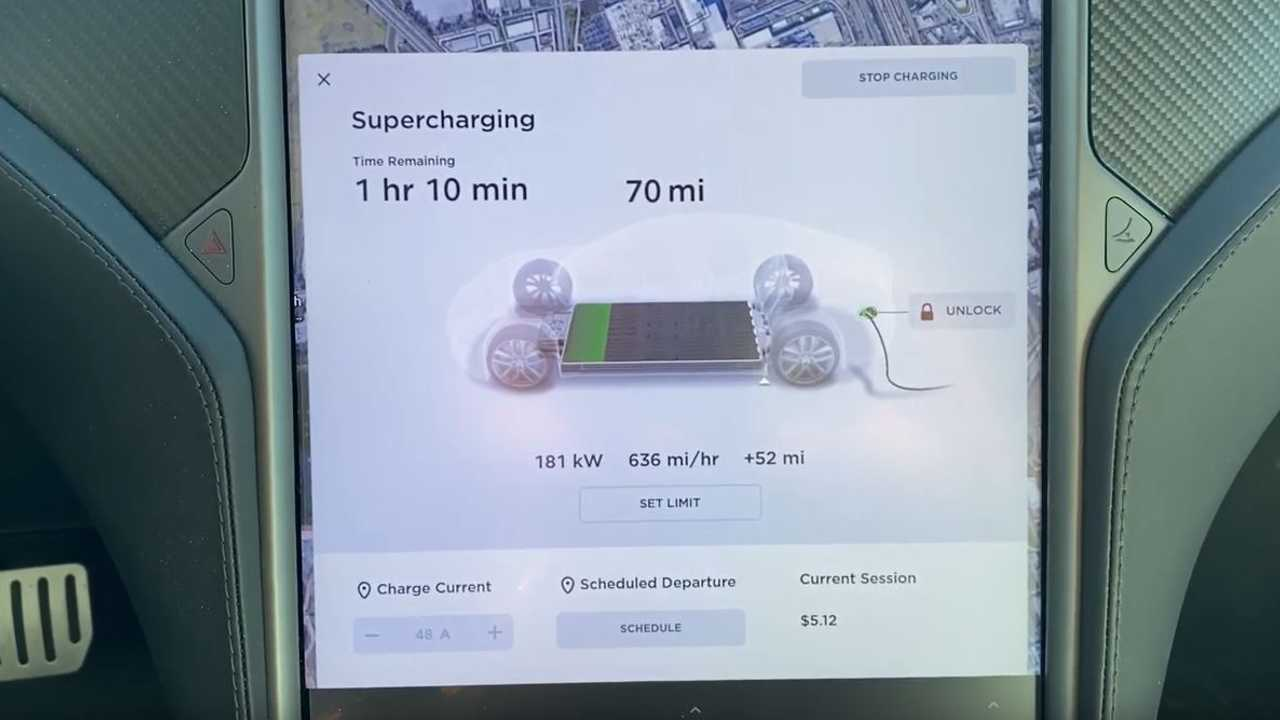 tesla model s performance v3 supercharging