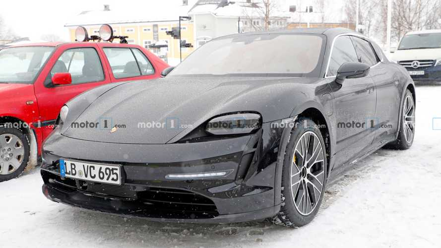 Porsche Taycan Cross Turismo Spied Up Close With Little Camouflage