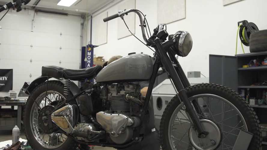 Watch This Guy Bring Fonzie's Bike Back To Life