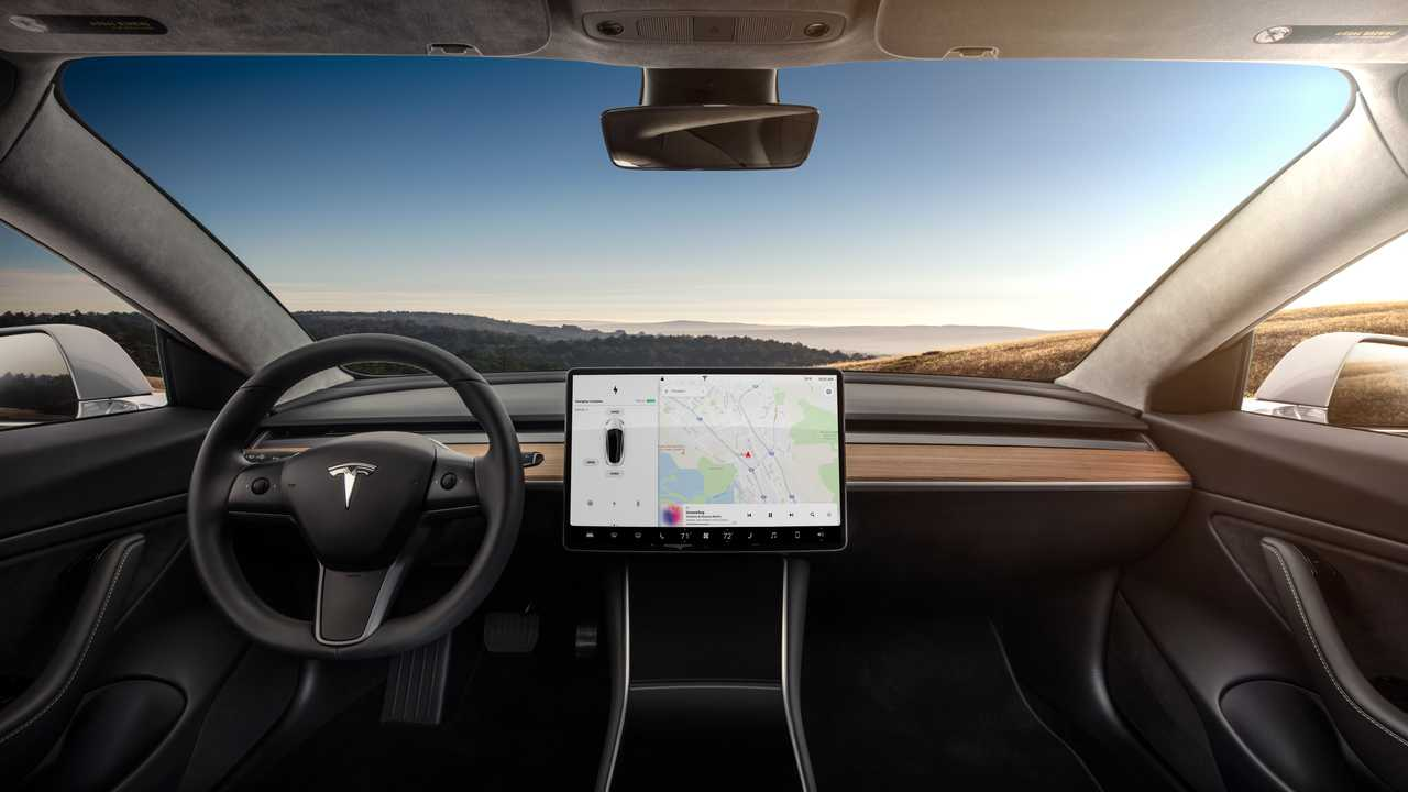 Tesla Model 3 Interior Dashboard - Head On