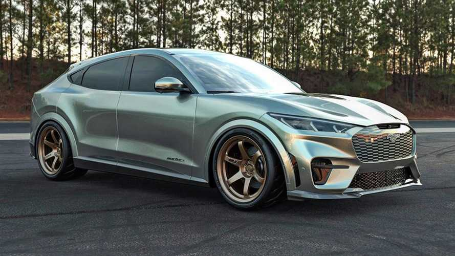 Ford Mustang Mach-E renderings show a slammed and sporty EV