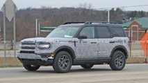 ford bronco sport spied orange
