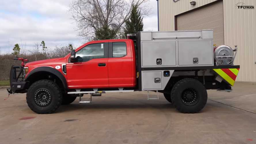 This Highly Modified Ford F-550 Brush Truck Is Lit