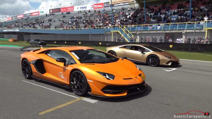 Aventador SVJ, 1,200-bhp GT-R and a host of supercars go drag racing