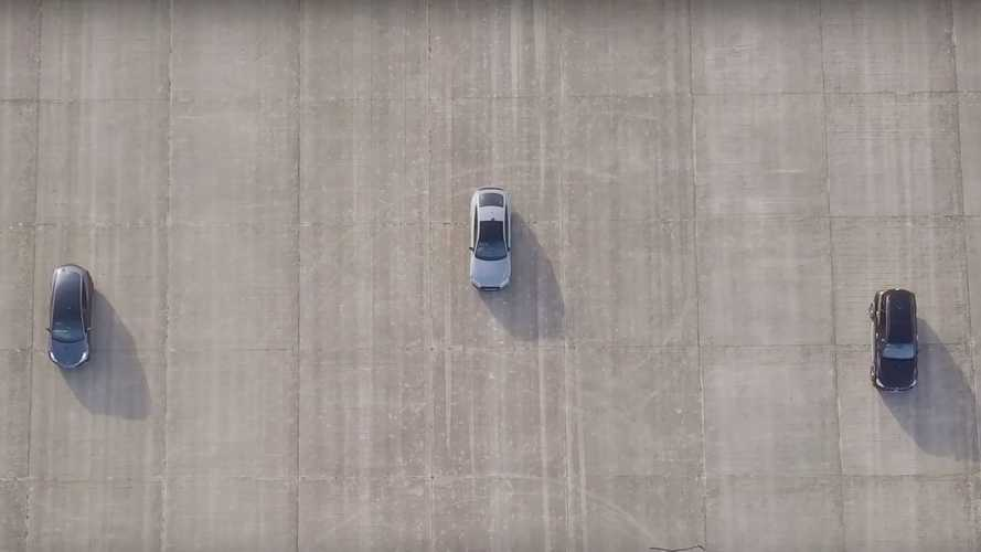 Tesla Model 3, Audi RS5, AMG GLC 63 Drag Race Ends With Photo Finish