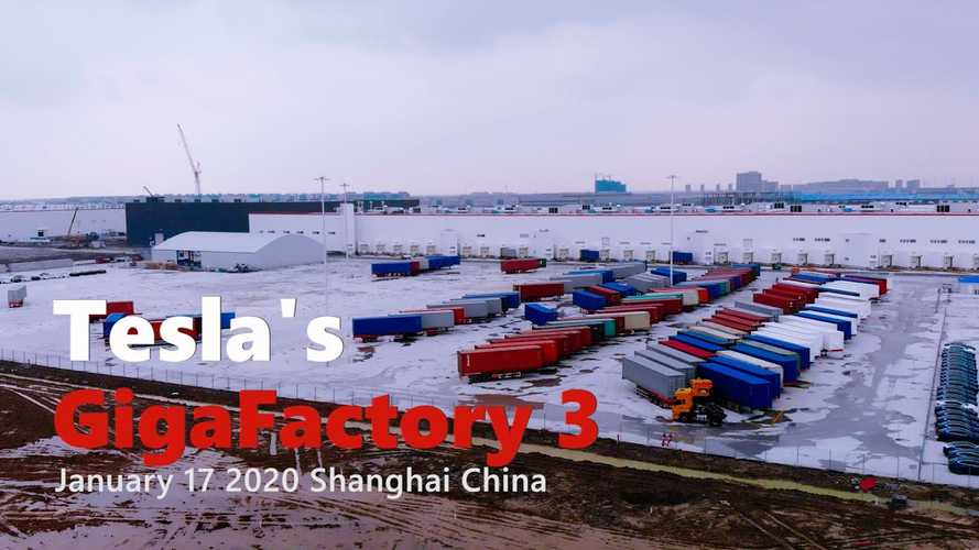 Tesla Gigafactory 3 Construction Progress January 17, 2020: Video
