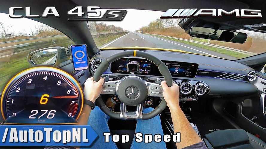 Videó: Ilyen belső nézetből, amikor az ember 270 felett repeszt a Mercedes-AMG CLA 45 S-sel