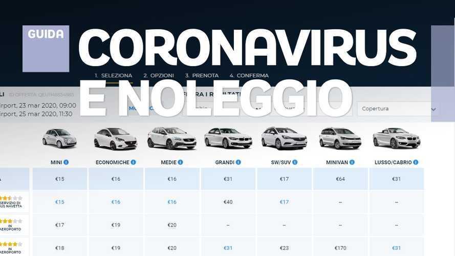 Noleggio auto, come funziona con il Coronavirus e quanto costa