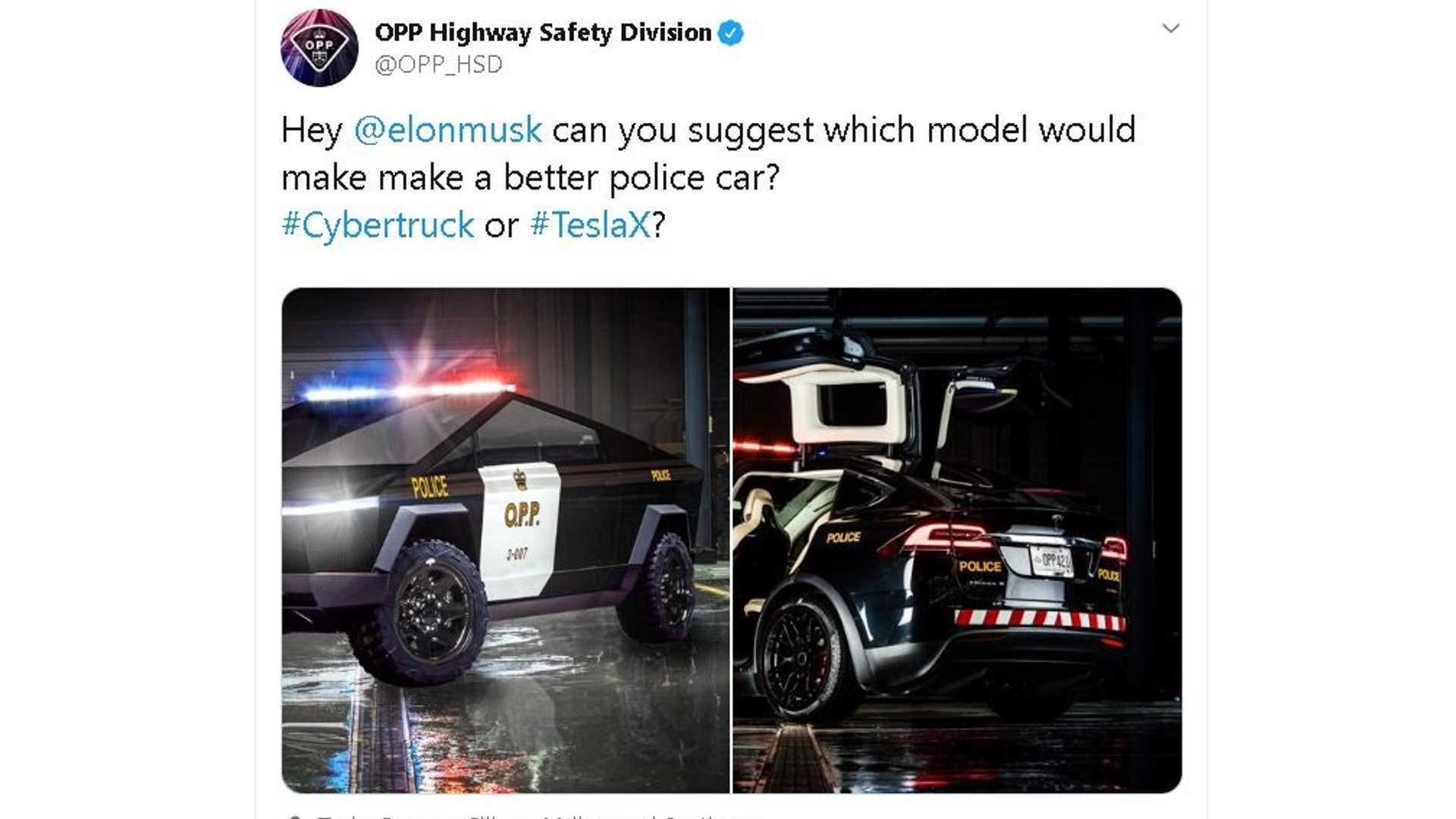 Tesla Cybertruck Or Model X? Canadian Law Enforcement Asks Musk