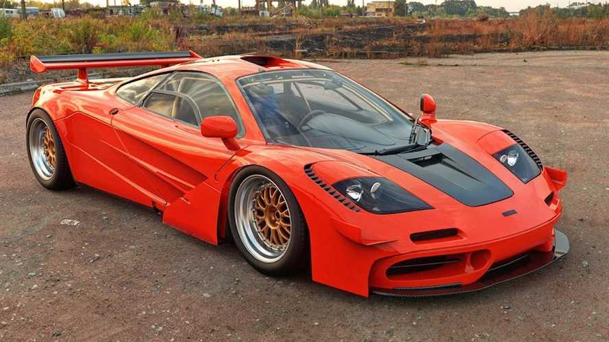 McLaren Senna rendered like it was made in 1995