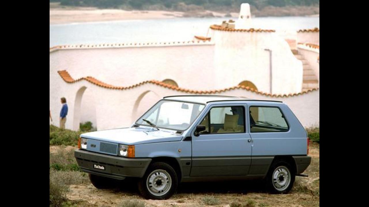 GRIGLIA ANTERIORE NERA COMPLETA DI BARRETTE FIAT PANDA DAL 1990 AL 2003