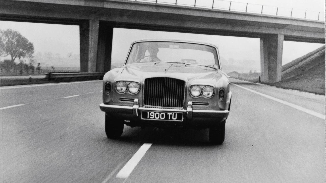 Classic 1970s Bentley On Motorway