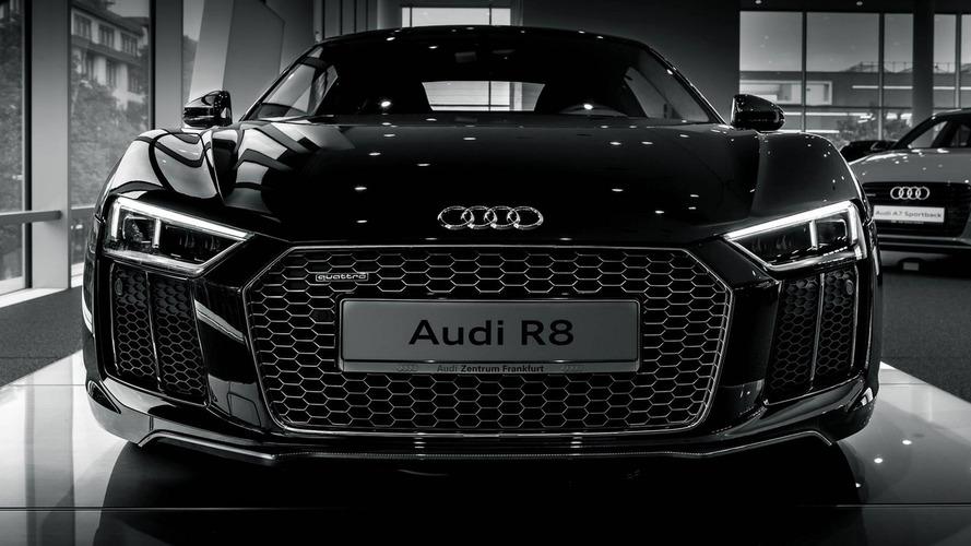 2015 Audi R8 V10 Plus in Mythos Black looks mesmerizing in high-quality photo shoot