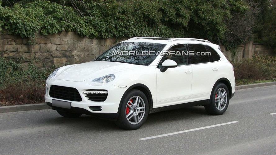 2011 Porsche Cayenne Spied in White with Minimal Disguise