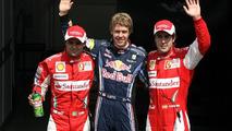 Felipe Massa (BRA), Scuderia Ferrari, Sebastian Vettel (GER), Red Bull Racing and Fernando Alonso (ESP), Scuderia Ferrari, German Grand Prix, Saturday Qualifying, 24.07.2010 Hockenheim, Germany
