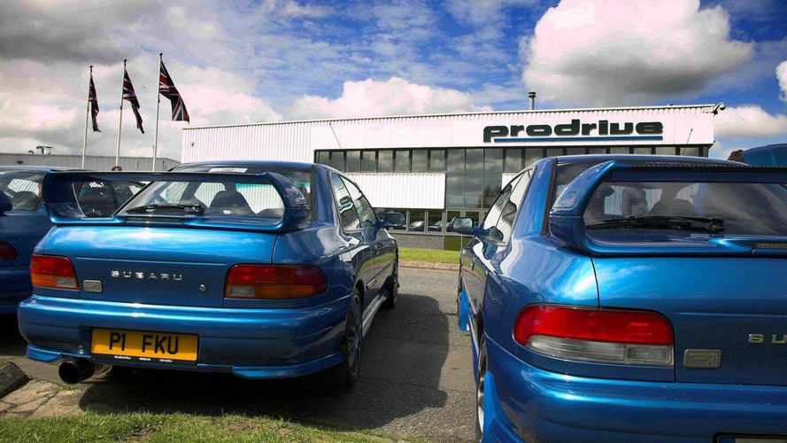 100 Subaru Impreza P1s meet at Prodrive