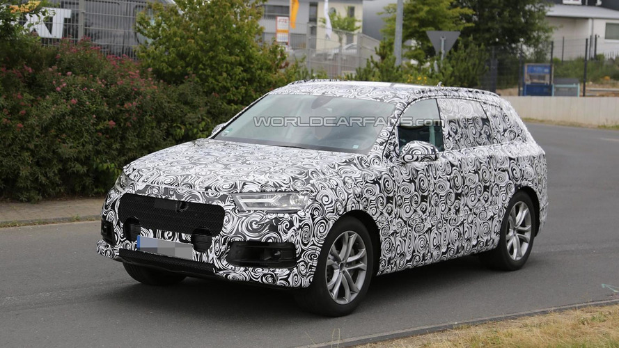 2015 Audi Q7 spied showing headlights & taillights, could be a more powerful S version