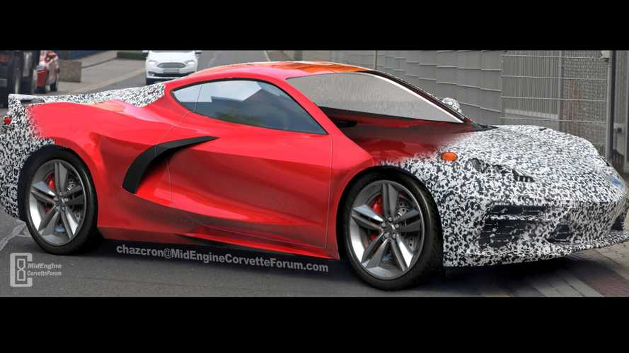 Mid-engine Corvette gets 360-degree viewing in fan render