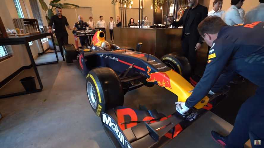 See Supercar Blondie Guide An F1 Car Through A Small Building