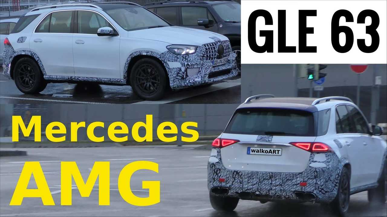 2020 Mercedes-AMG GLE 63 screenshot from spy video