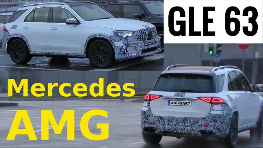 2020 Mercedes-AMG GLE 63 screenshots from spy video