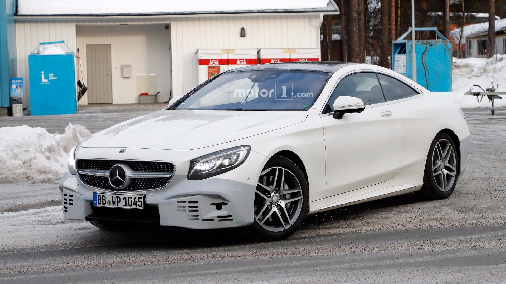 Refreshed Mercedes S Cl Coupe Spied