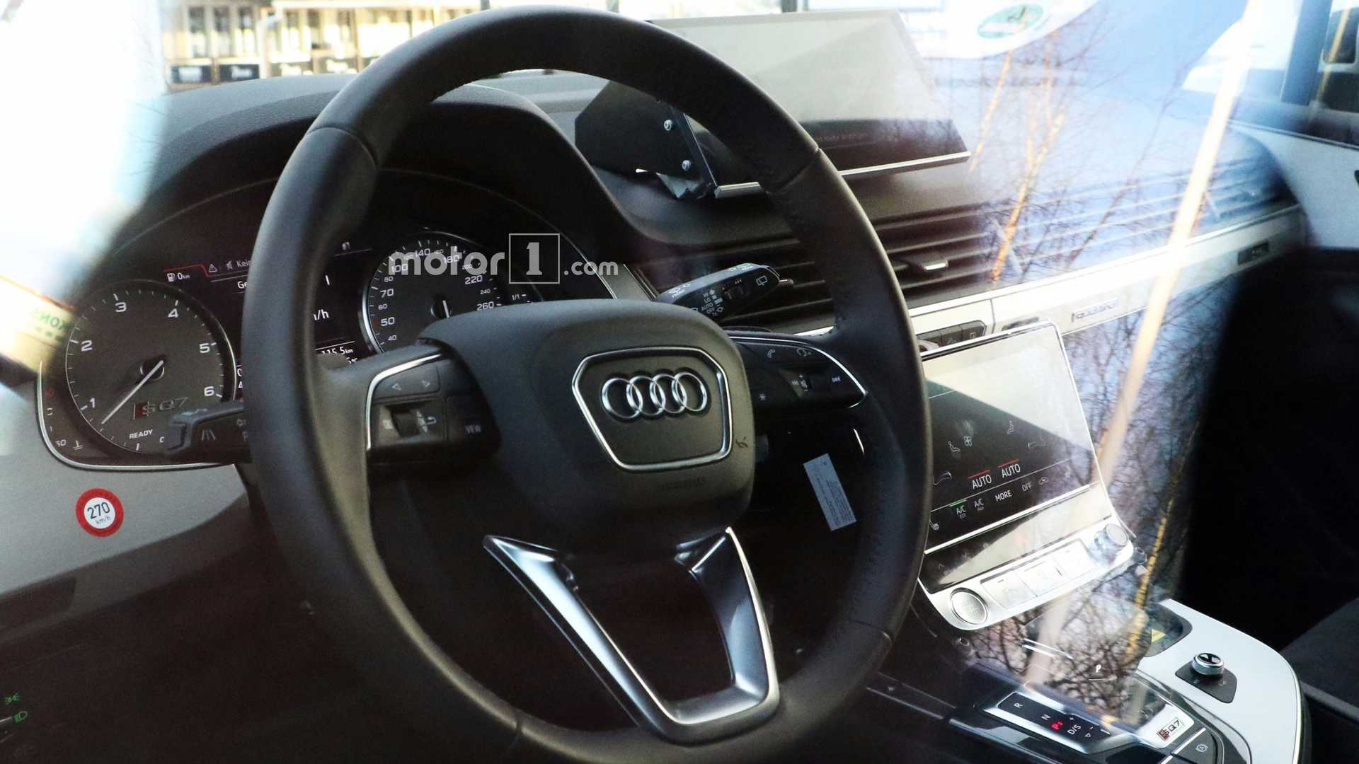 Audi Q8 Spied On The Inside Showing Sq7 Bits Dual Touchscreens