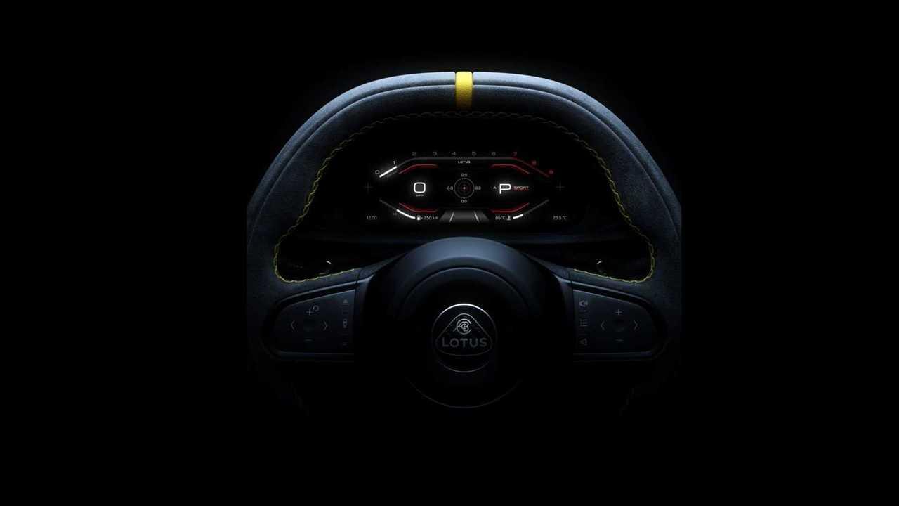 Ein kurzer Blick auf das Interieur des neuen Lotus Emira