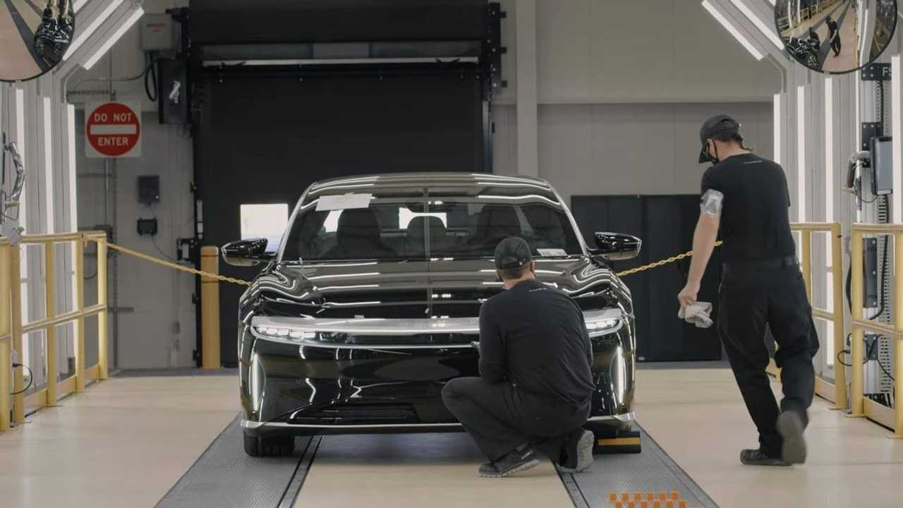 Lucid Air quality control at the AMP-1 factory in Casa Grande, Arizona