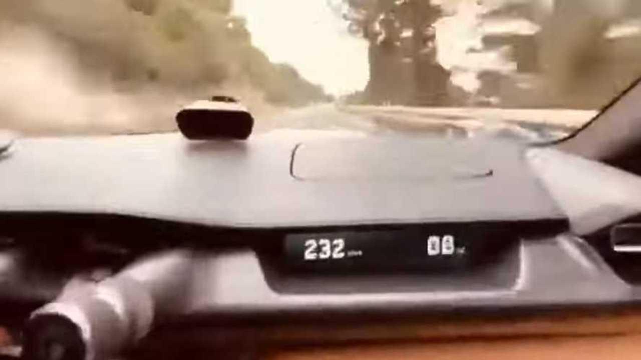 Rimac Nevera speeding