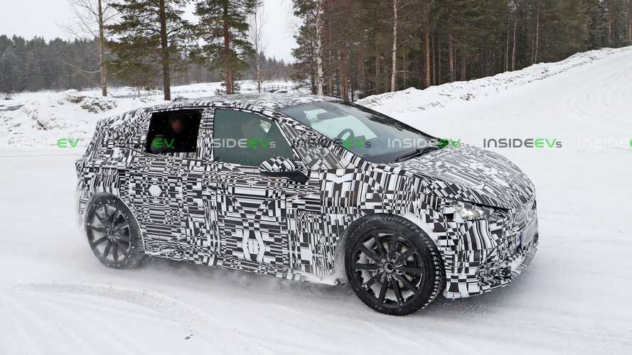 Cupra Born Electric Hot Hatchback Spotted Winter Driving