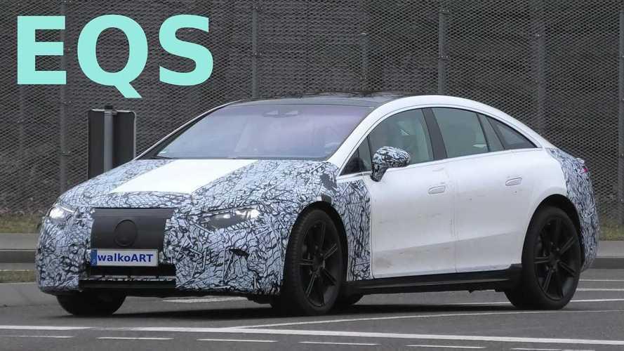 Mercedes-Benz EQS, kamuflaj miktarını bir hayli azaltmış